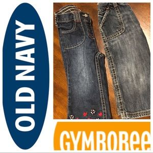 Girls 12-18M Gymboree and Old Navy Jeans